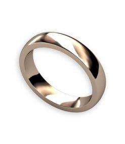 svaft välvd handsmidd slät ring