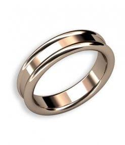 förlovningsring med mjuka kanter