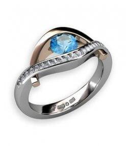 akvamarin och diamanter