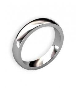 slät handsmidd ring i vitguld eller platina