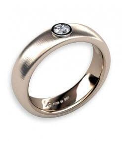 frostad slät ring med diamant