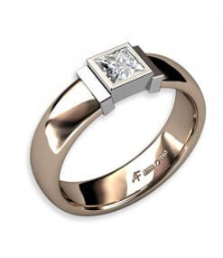 enstensring med prinsess slipad diamant 0.45 ct tw, vs