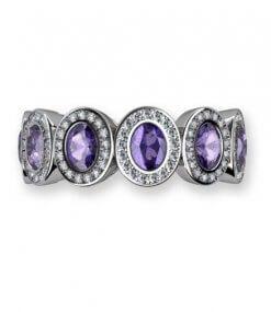 helalliansring med tanzaniter och diamanter