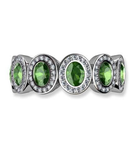turmaliner och diamanter helalliansring