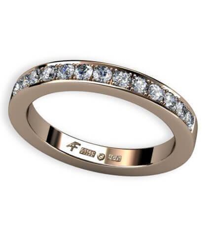 2,8 mm alliansring med fadeninfattade diamanter