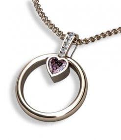 ringhållare med rosa turmalin och diamanter
