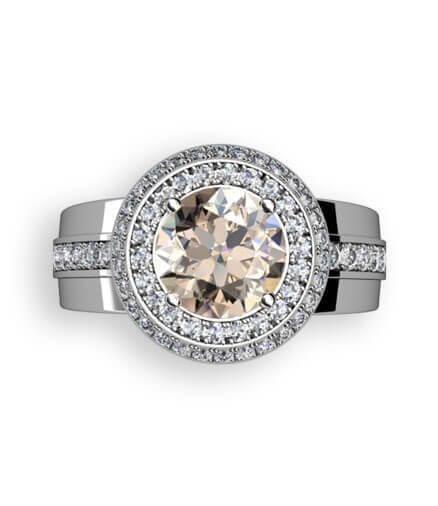 rökfärgad diamant rosettring