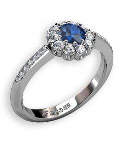blå safir rosettring