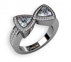 diamantring i platina