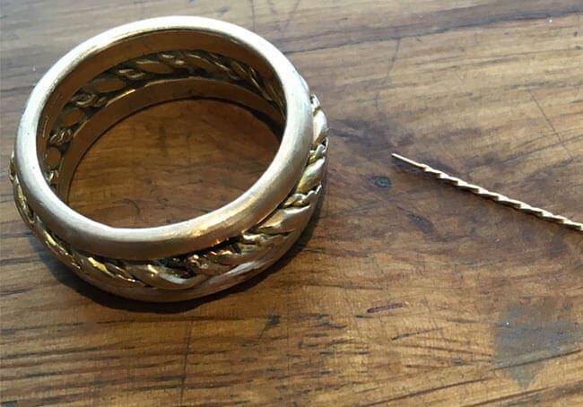 guldtråd skall monteras i guldring