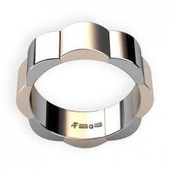 förlovningsring bred 2 färgad guld