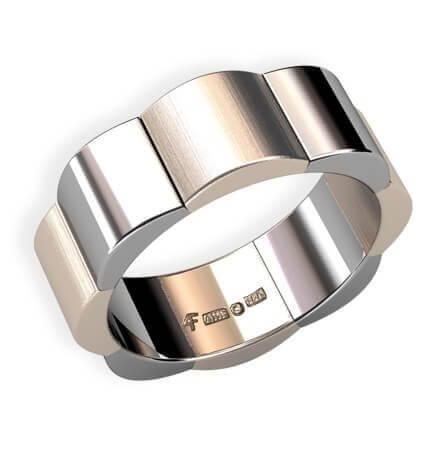 bred förlovningsring guld