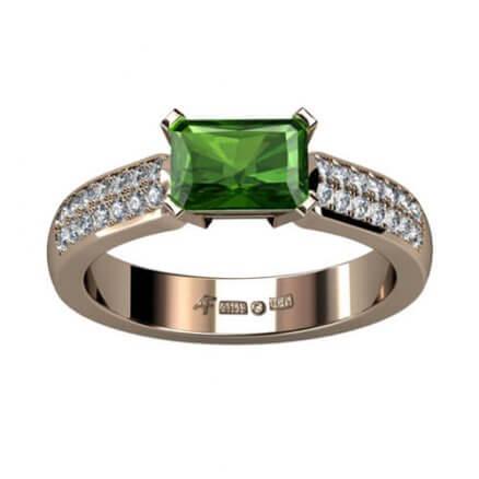 turmalinring med diamanter