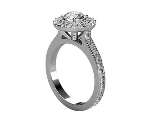exklusiva diamantringar platina