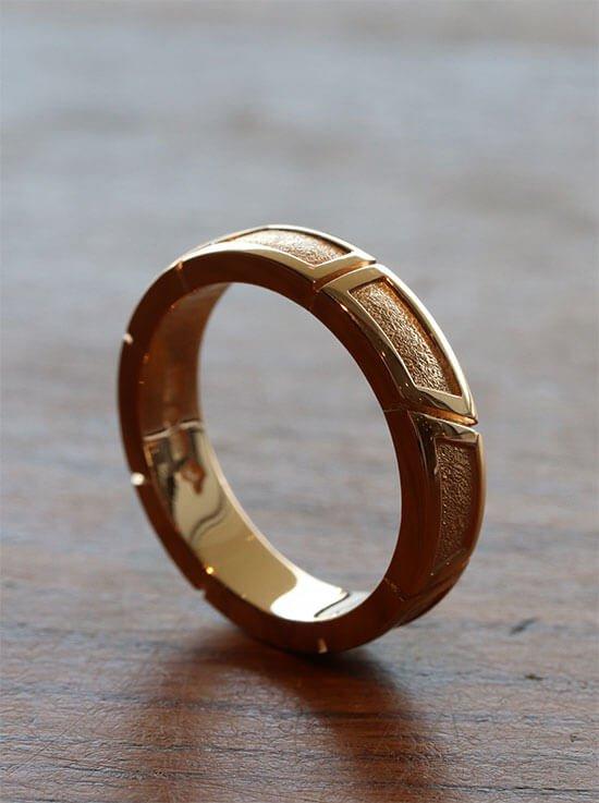 herr ring guld handgjord exklusiv
