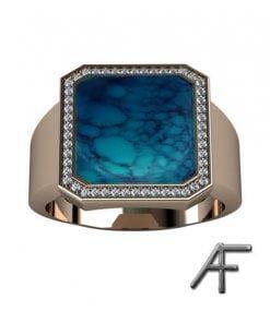 klackring med blå lapis och diamanter