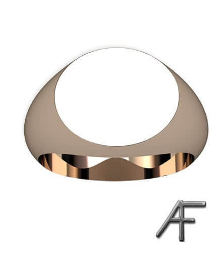 oval klackring guld