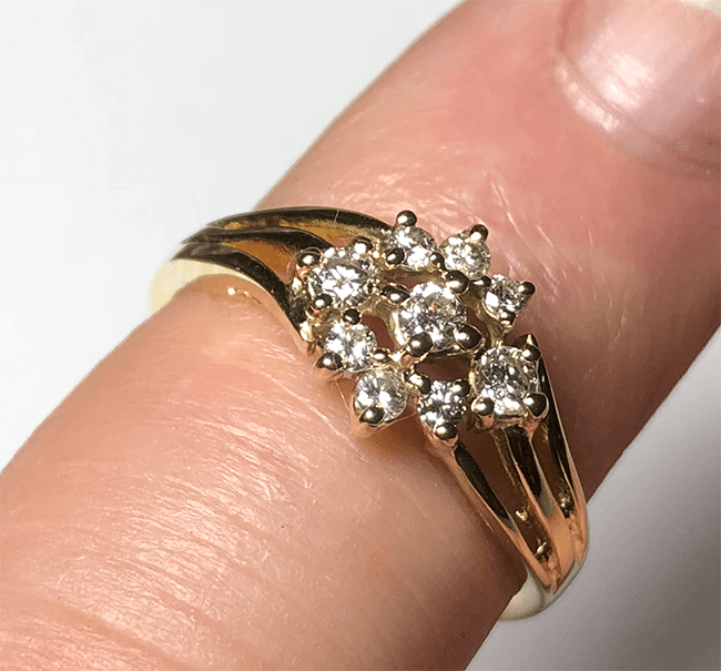 lagad vintage ring med diamanter