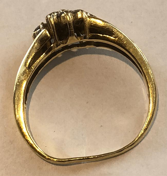 vintage smycke tilltryckt skena