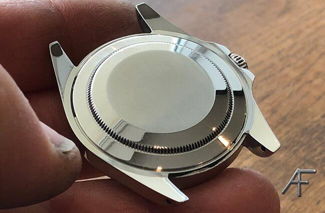 baksidan av boetten stål Rolex