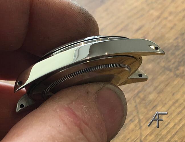 Finischering, slip och högglanspolering av Rolex