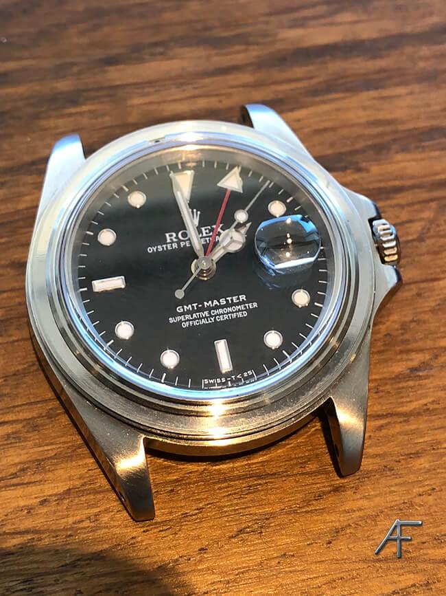 Rolex stål med svart urtavla