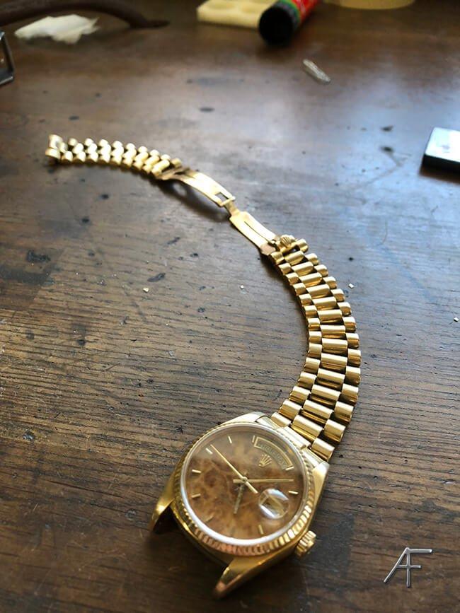 sliten rolex klockband