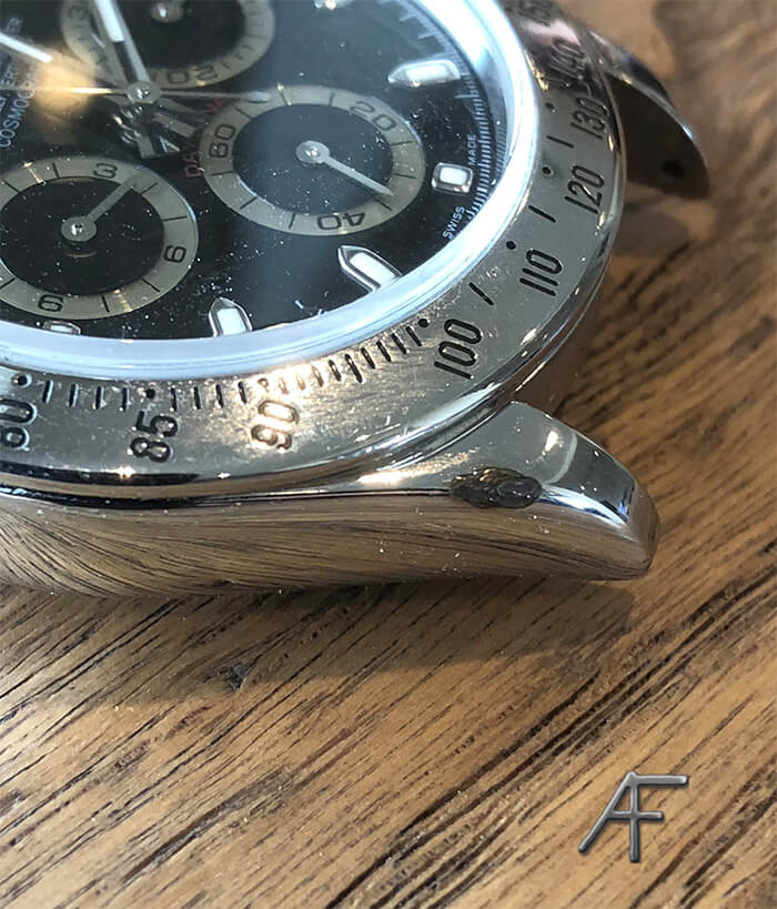 Lasersvetsning av boetthorn Rolex