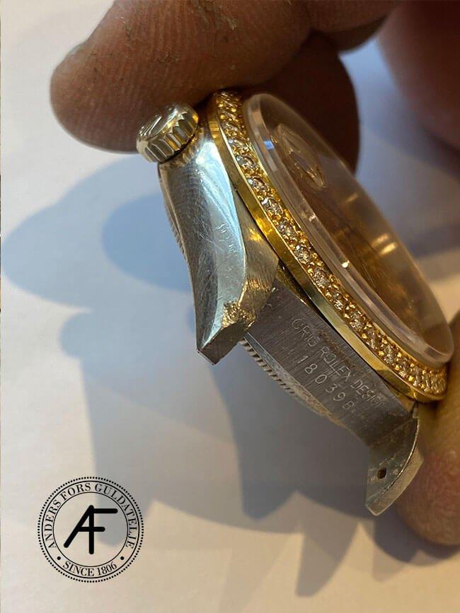 Hack på bandhorn Rolex