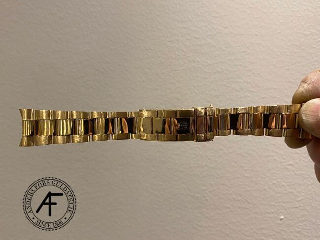 stretchen (slitaget) är borta på Rolex Oyster Perpetual