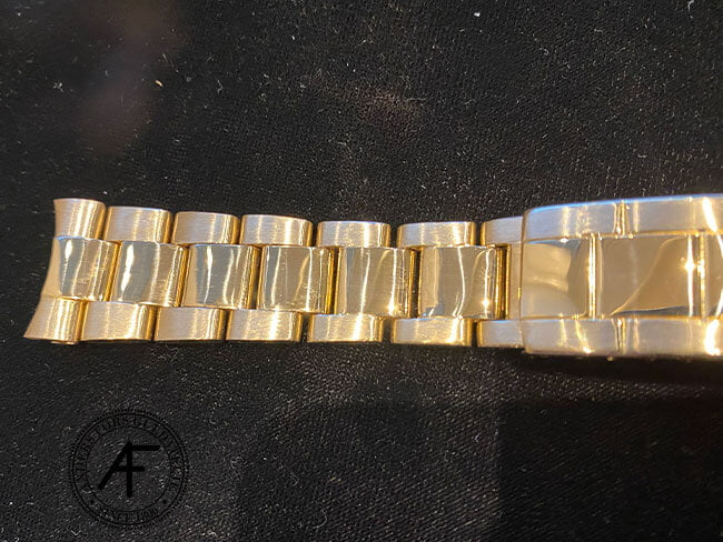 Rolex Oyster Perpetual guld renoverad