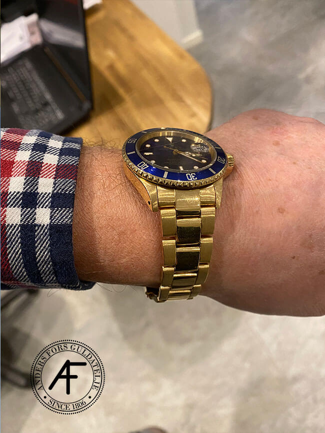 Rolex Oyster Perpetual boette och band renoverat