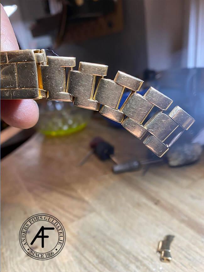 stretch rolex guld armband